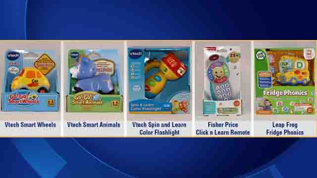 Five toys that may post noise hazards. (USPIRG photo)