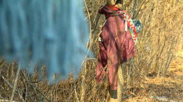 Winter gear being tied to trees in Torrington for the homeless (WFSB)