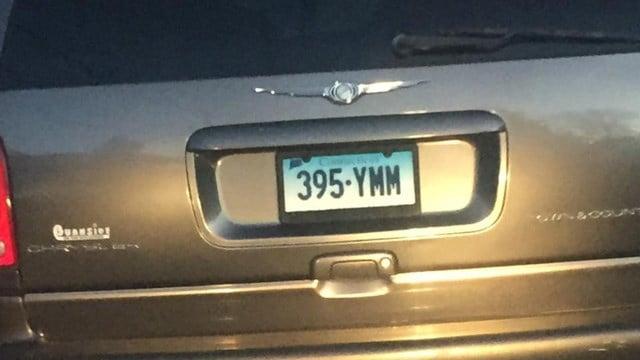 Police said the plates the van were misused. (Hartford police photo)