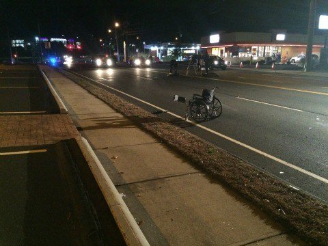 Two people were seriously injured after hit-and-run crash on Pine Street in Bristol. (WFSB)