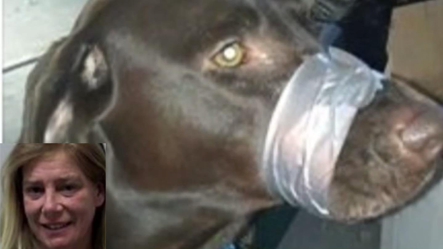 Katherine Lemansky and the chocolate lab posted to social media. (Police/Facebook photo)