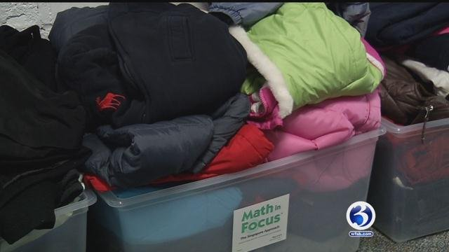 These coats were donated by Glastonbury students to the Coats for Connecticut drive. (WFSB)