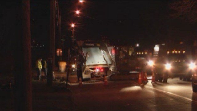 A water main break has closed part of Crown Street in Bristol (WFSB)