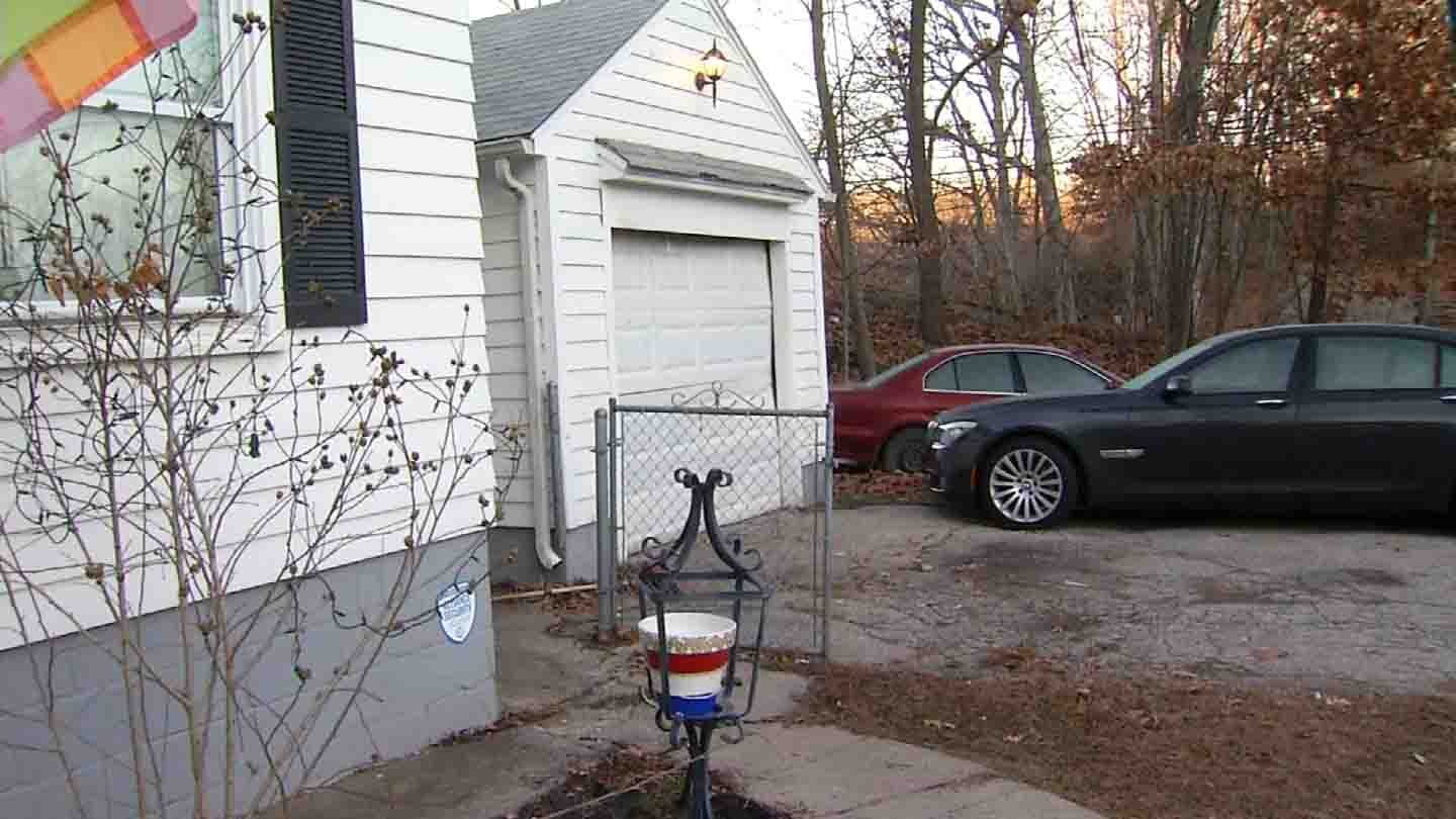 A garage and vehicles were targeted in a Cheshire shooting on Thursday. (WFSB photo)