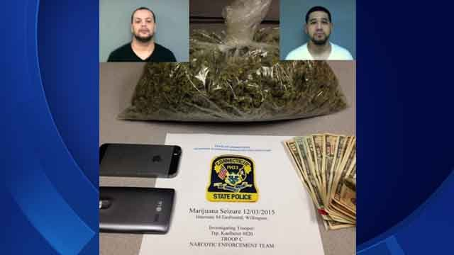 Two face charges after pound of marijuana found in vehicle (Connecticut State Police)