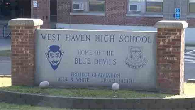 A threatening phone call was received at West Haven High School. (WFSB file photo)