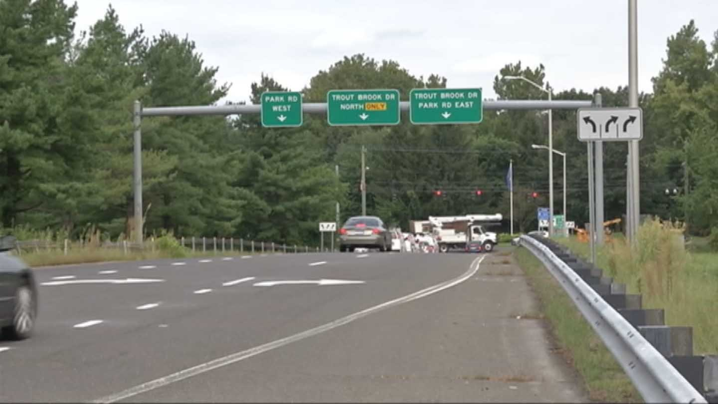 The Park Road exit of I-84 in West Hartford. (WFSB file photo)