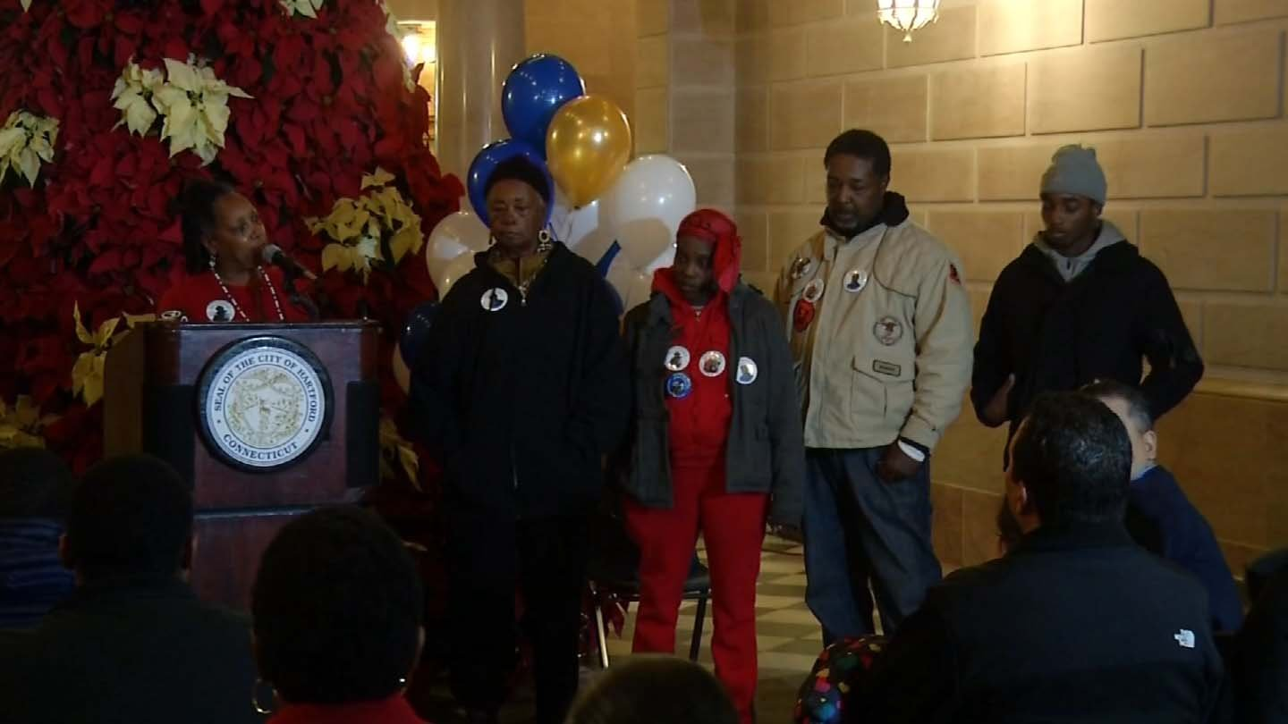 People held a vigil on Wednesday night to plead for an end to the violence in Hartford. (WFSB photo)