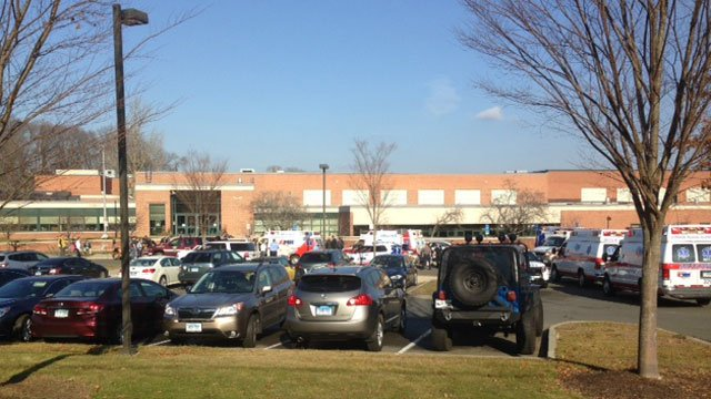 Ambulances were called to Swift Middle School after students got sick. (WFSB)
