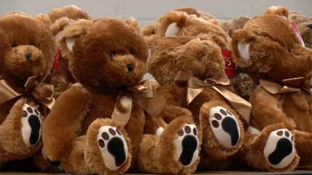 Teddy bears took over the Connecticut Police Academy in Meriden. (WFSB)