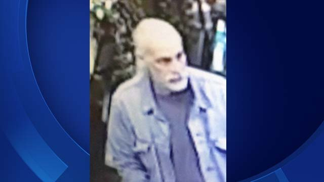 Vernon police are trying to find the man accused of stealing a woman's purse from a church on Friday. (Vernon police)