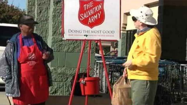 Popular store chain bans Salvation Army kettle bell ringers