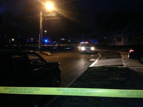 Crime scene on Griswold Street Saturday night