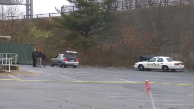 A man's body was found in the rear of a New London church. (Dustin Miller, iWitness photo)