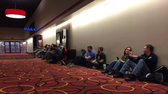 Star Wars fans line up early for movie premiere (WFSB)