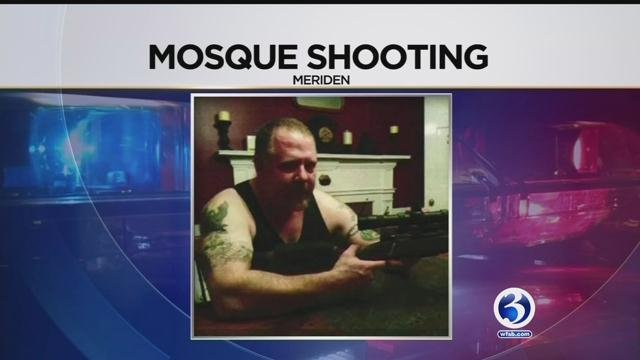 Ted Hakey Jr. is accused of shooting at a Meriden mosque