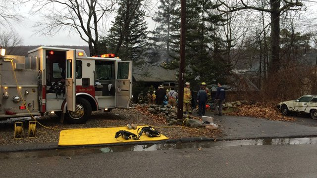 One firefighter was injured after a house fire in Coventry. (WFSB)