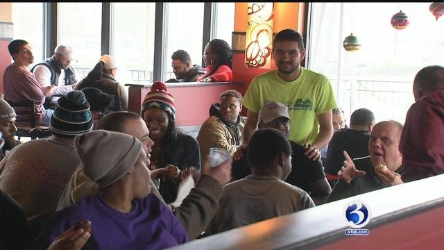 Casa Margarita hosted lunch for those in need. (WFSB)