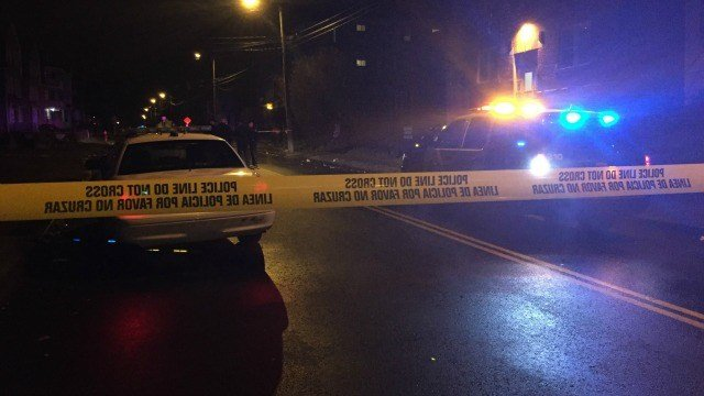 Police were on the scene of a stabbing on Enfield Street in Hartford. (WFSB)