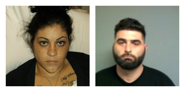 Giovanni Torcasio and Denajia Bishop(left) were arrested on Wednesday. (CT State Police)