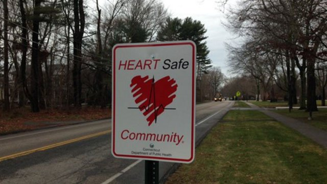 Old Lyme was designated a HEARTsafe community. (WFSB)