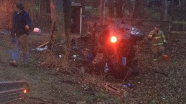 One man was sent to hospital after crash in Stafford. (WFSB)