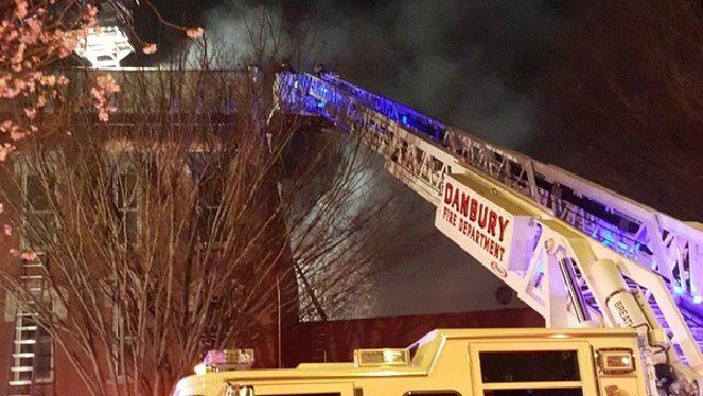No injuries reported in Danbury fire (Mayor Mark Boughton)