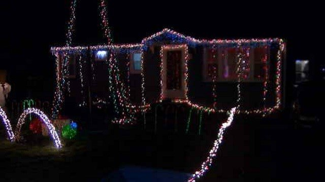 Andrew Gallagher turned a holiday light display, at his home on Plum Orchard Road, into a small hobby, and this year it got even bigger. (WFSB)