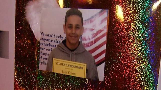 A photo of Luis Colon put up at a vigil in his memory earlier this week. (WFSB photo)