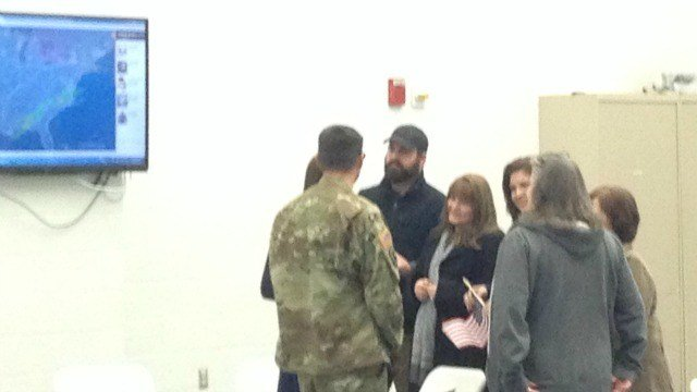 More than 30 soldiers from the 143rd Regional Support Group were reunited with their families on Wednesday at the National Guard's Windsor Locks Army Aviation Readiness Center.  (WFSB)