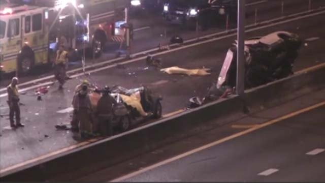 Two Bridgeport residents were killed in a wrong way crash on I-95 in Miami, Fl. on Wednesday morning. (CBS Miami)