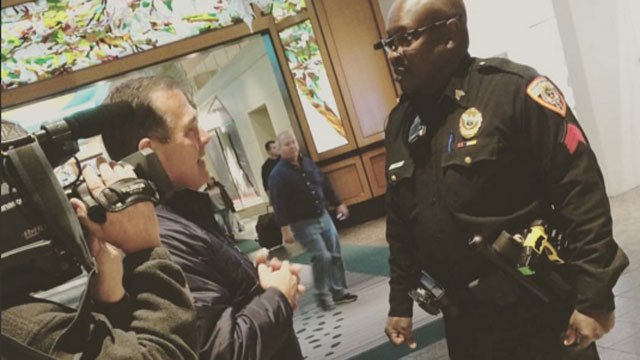 Sgt Parker has special glasses that help make his job easier., (WFSB)