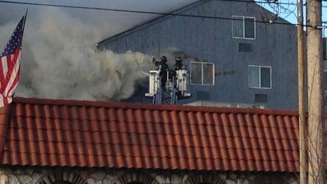 Firefighters battle 2-alarm fire in Bridgeport. (WFSB)
