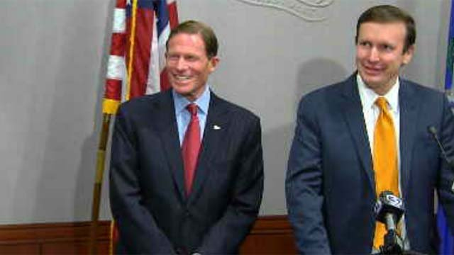 U.S. Senators Richard Blumenthal and Chris Murphy (WFSB file photo)