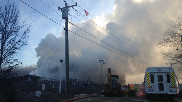The fire continued to smolder on Thursday morning. (WFSB photo)