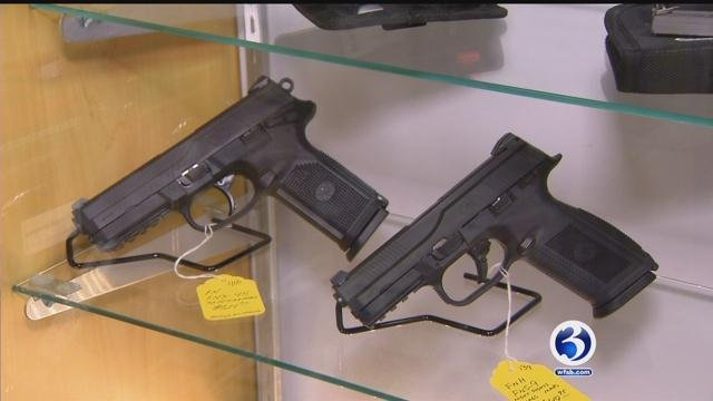 CT store owner said pistol permit classes filling up since president's announcement. (WFSB)