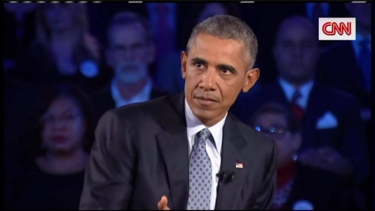 President Obama held a town hall meeting about his gun control plan on Thursday night. (CNN photo)