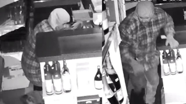 Police released this photo of the alleged suspect in the burglary at Bozrah Wine and Spirits. (Connecticut State Police)