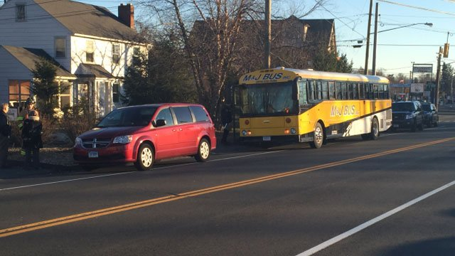 Bus crash reported in Cromwell on Monday afternoon. (WFSB)