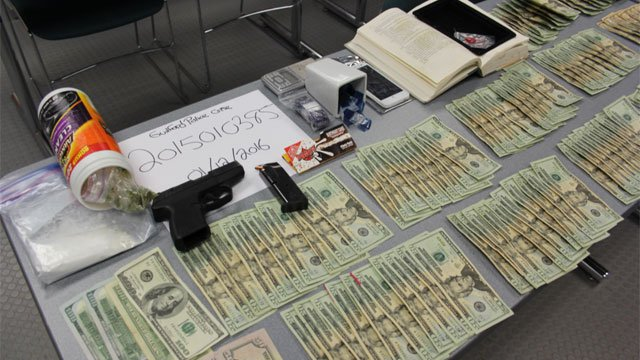 The following items were seized from a home on Pinebrook Circle. (Guilford Police Department)