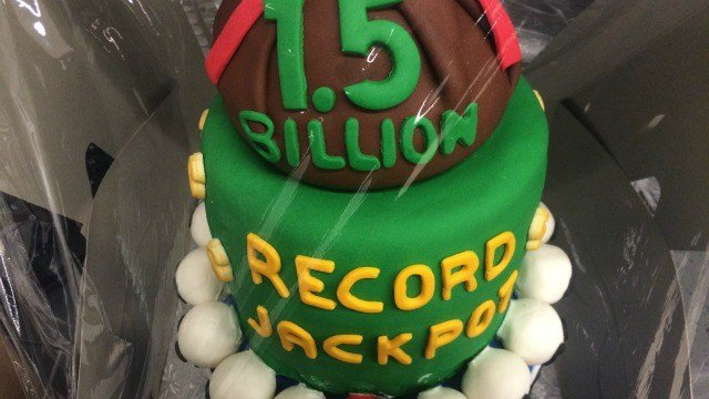 This Powerball-themed cake was made by Cake Gypsy in Canton and Avon. (WFSB)