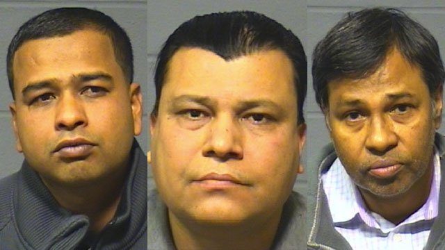 Ahmed Mustak, Mohammed Ahmed, Shaheen Mohammed. (Hartford police photo)