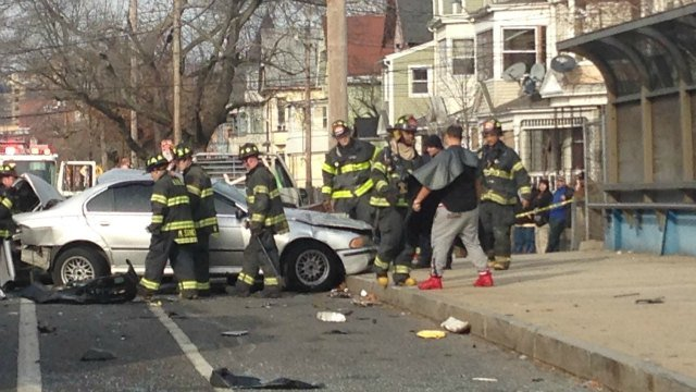 Serious crash was reported on Howard Avenue in New Haven. (WFSB)