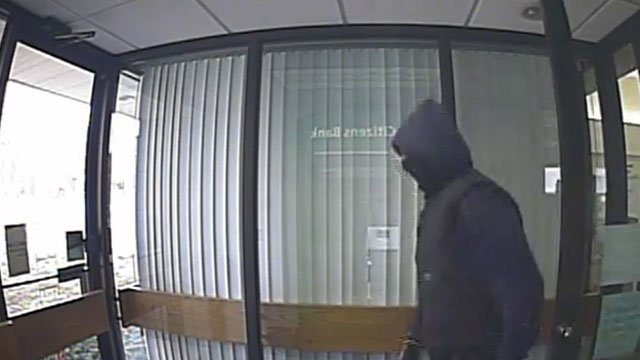 The Plainfield Police Department  said they are looking for this suspect in connection with a robbery at the Citizens Bank.