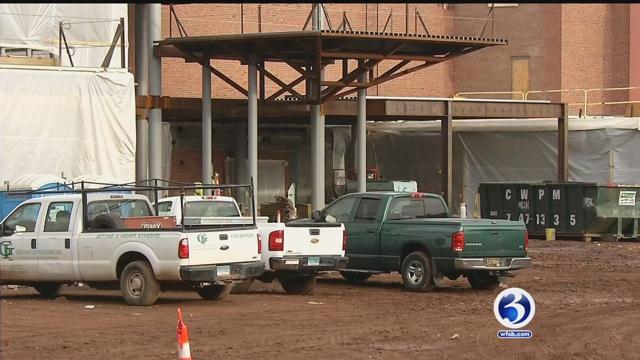 Construction delayed at Orville H. Platt high school in Meriden after asbestos found. (WFSB)