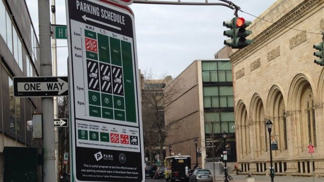 A new design for parking signs hopes to clear up some confusion in downtown New Haven. (WFSB)