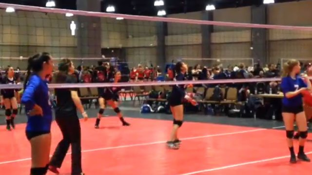 About 2,500 young women from the New England are competing this weekend in 2 volleyball tournaments in the Hartford area. (WFSB)