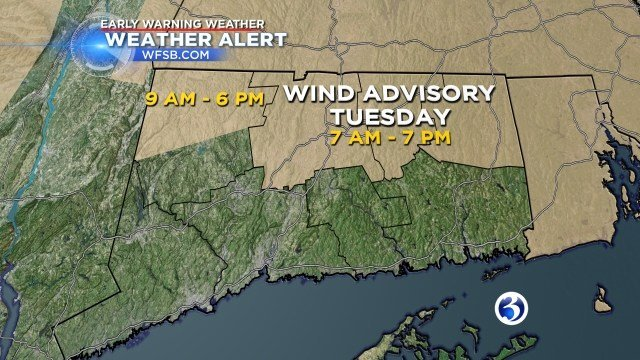 Wind Advisory issued for Tuesday