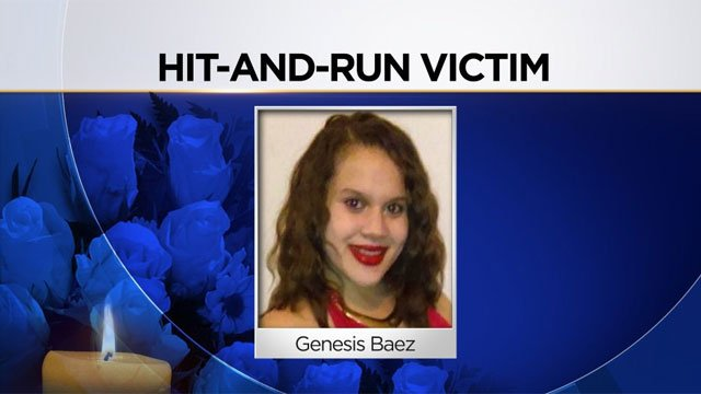 Police said 22-year-old Genesis Baez was standing near a car on Bronson St when she was hit by another car.