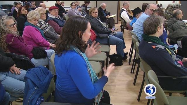 Dozens attended a hearing about a potential move for the West Hartford Children's Museum Tuesday night. (WFSB photo)